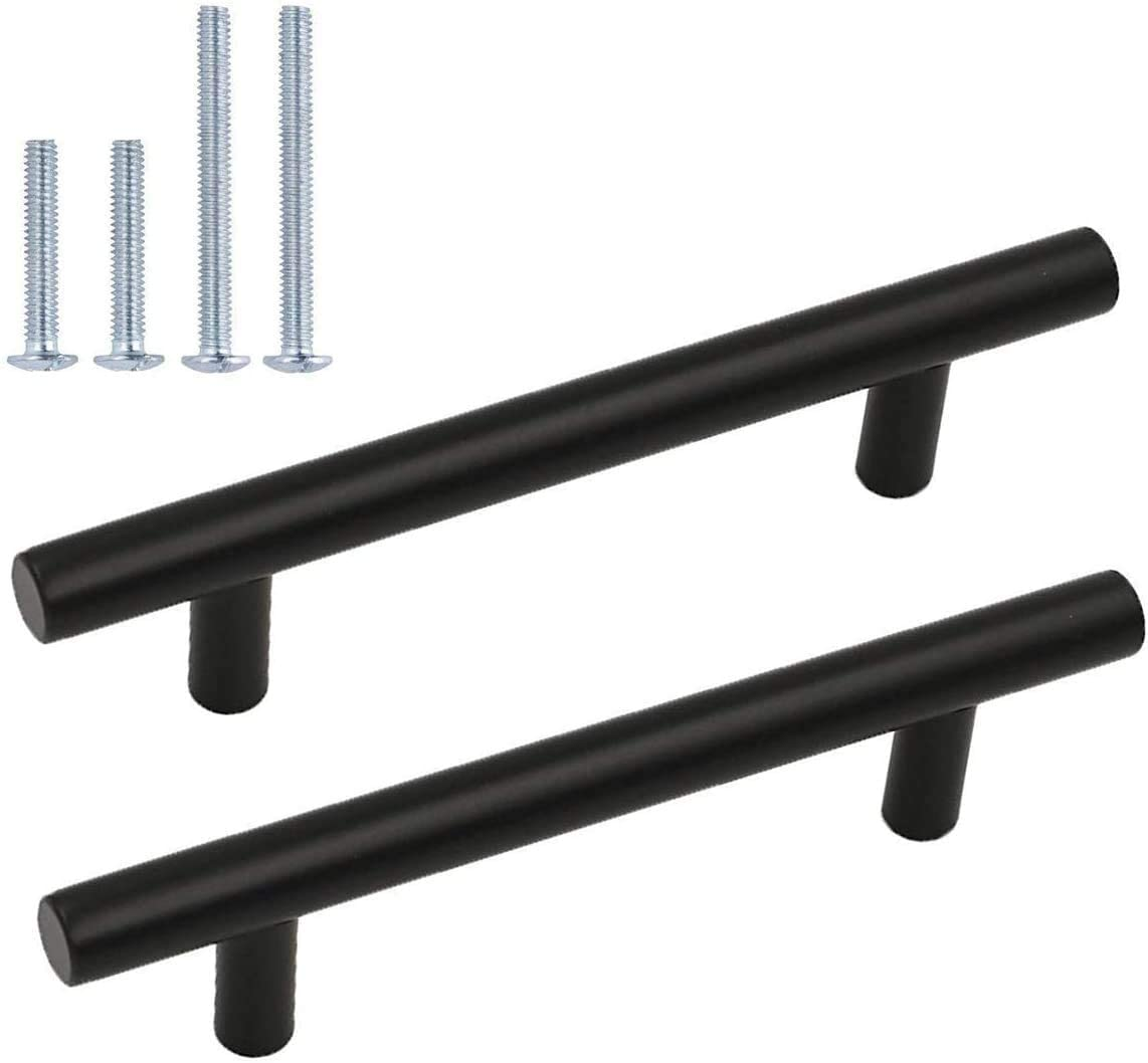 3.5inch 90mm Black Cabinet 67% OFF of fixed price Pulls Bar Handle T Max 53% OFF Ha