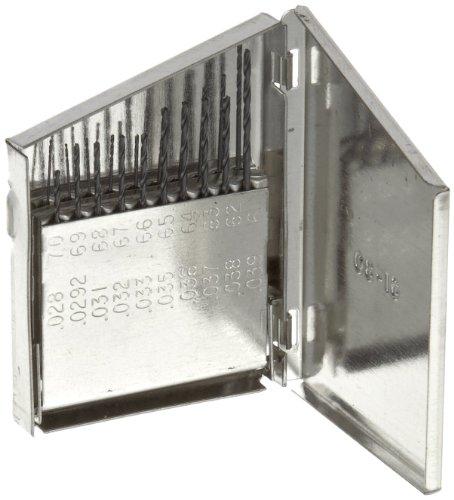 Chicago Latrobe 150 Series High-Speed Steel Jobber Length Drill Bit Set with Metal Case, Black Oxide Finish, 118 Degree Conventi