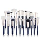 Jessup T470 - Juego de brochas y pinceles de maquillaje para el rostro y el labio, 30 unidades, color azul