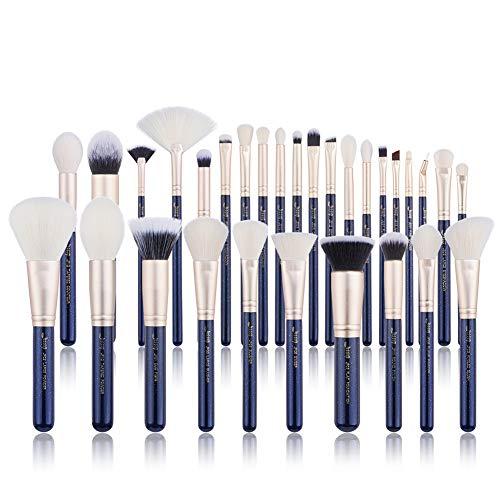 Jessup Brush Set Make up Brushes Powder Brush Face Lip Make-up Brush Professional Beauty Brush Tools&Kits 30 Pcs Prussian Blue T470
