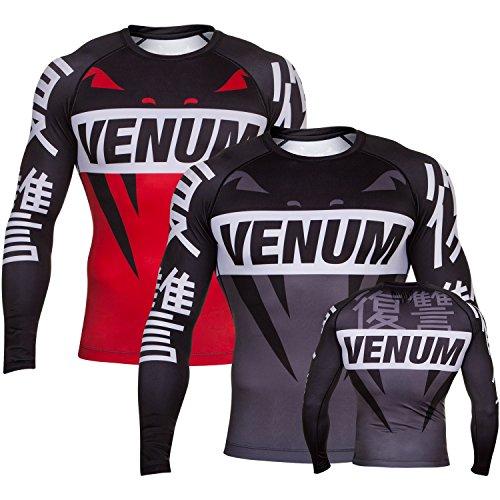Venum Rashguard Revenge–Maglietta Funzionale, BJJ MMA Compressione Grappling Parte Superiore Shirt Uomo