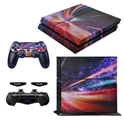 eXtremeRate juego completo de calcomanías para placa frontal para Playstaiton 4/PS4 con 2 barras de luz LED (consola y 2 controladores)