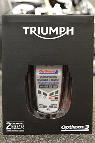 Triumph Optimate 3Batterie-Optimierer für Motorräder, Kombination aus Lade- und Wartungsgerät