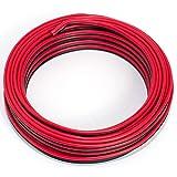 Cavo per altoparlante, 2 x 0,75 mm², 10 m, colore: rosso/nero, CCA