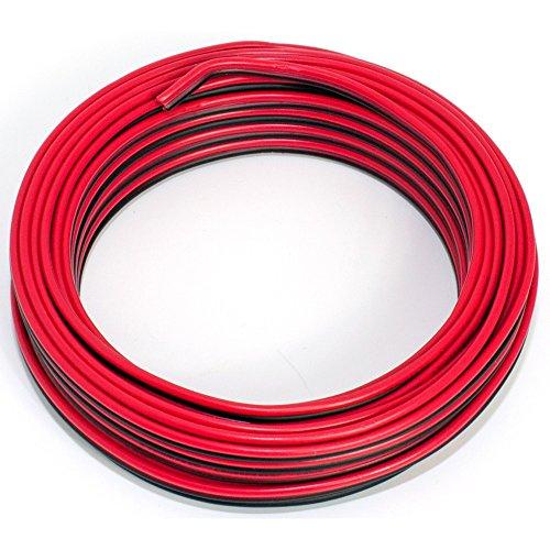 Seki - Cable para Altavoces (2 x 0,75 mm²) 0,75mm2-10m Rojo y Negro