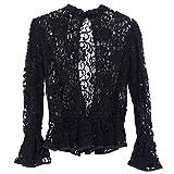 [Honey mi Honey (ハニーミーハニー)] lace backslit blouse (18s-vg-14) (F【フリー】, black【ブラック】)