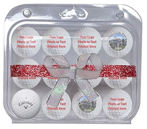 Callaway Chrome Soft Personalized Golf Balls 12-Pack Refinished -Now in Christmas Ribbon Packaging-