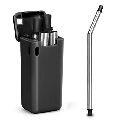 JCBABA Reusable Straws, Collapsible Stainless S...