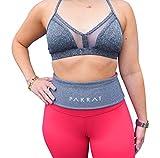 PakRat Running Belt Waist Pack - Runners Fold Over Belt, Fanny Pack for Jogging, Exercise or Travel, Holds Phone, Money, Keys (Black, Medium)