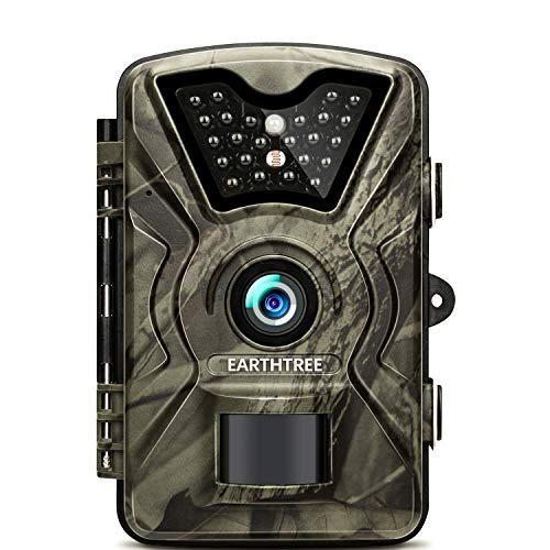 Earthtree Wildkamera mit 20 Metern Nachtsicht und 2.4 Zoll LCD-Bildschirm