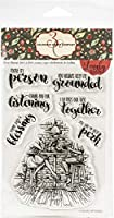 """Colorado Craft Company Clear Stamps 4""""X6""""-Girlfriends & Coffee-Lovely Legs"""