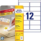 Avery España L4743REV-25 - Pack de 25 folios de etiquetas despegables, 99.1 x 42.3 mm, color blanco