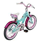 BIKESTAR Kinderfahrrad für Mädchen ab 4-5 Jahre   16 Zoll Kinderrad Cruiser   Fahrrad für Kinder Mint   Risikofrei Testen - 4