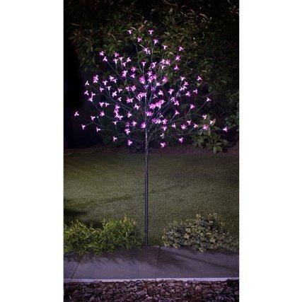 Decorative LED Solar Blossom Tree 4ft- Pink