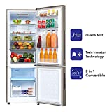 Haier 256 L 3 Star Inverter Frost-Free Double Door Refrigerator (HRB-2764PMG-E, Mirror glass,Convertible)
