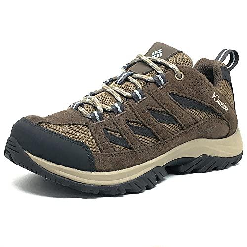 Columbia Women's Crestwood Mid Waterproof Hiking Shoe, Pebble, Oxygen, 9