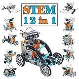 TOYSTD STEM Spielzeug Junge 8-12 Jahre Solar Roboter Spielzeug 12-in-1 Science Kit Geschenke für...