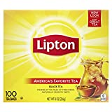 Lipton Tea Bags For A Naturally Smooth Taste Black Tea Can Help Support a Healthy Heart 8 oz 100...