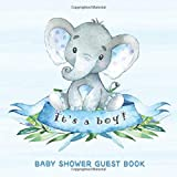 Baby Shower Guest Book: It's a Boy: Baby Elephant Guestbook + BONUS...