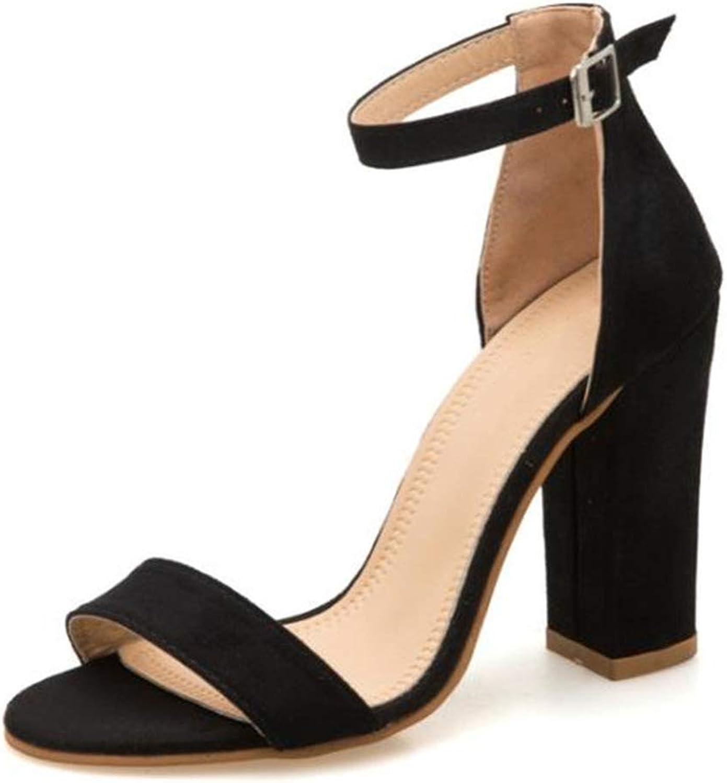 LAIGEDANZI Ankle Strap High Heels Faux Fluffy Rabbit Fur Women High Heel Summer Lady shoes s01