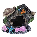 JJY Resina Acuario Decoración Mini árbol Hombre Modelo Barco Casa Bridge Driftwood Landscaping para el Tanque de Pescado Adorno de Resina Adorno de paisajismo (Color : 01)