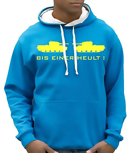 BIS EINER HEULT - BICO SWEAT SHIRT HOODIE - Sweatshirt mit Kapuze BI COLOR Sky-GELB Gr.XL