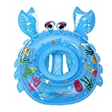 O-Toys Pool Floats for Baby Toddlers Inflatable Float Raft Water Swimming Ring Floating Boat for Kids (Crab) (Crab)