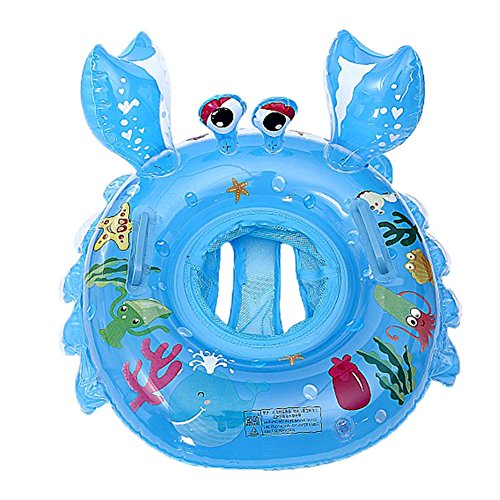 O-Toys Pool Floats for Baby Toddlers Inflatable Float Raft Water Swimming Ring Floating Boat for Kids (Crab) (Crab) Georgia