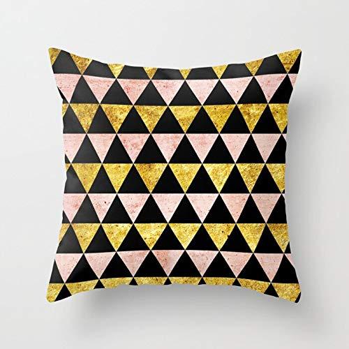 PPMP Funda de Dorada con diseño de piña Funda de cojín para decoración de sofá para el hogar Funda de Funda de cojín A11 45x45cm
