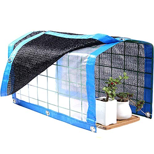"""WINGOFFLY Foldable Plant Canopy with Shade Cloth and Rainproof Cover 75% Sunblock Balcony Sun Shade Net for Succulents Flowers (16.6"""" x 11.8"""" x 11.8"""")"""