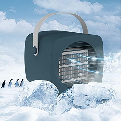 DJH Enfriador de Aire Personal, Aire Acondicionado oscilante portátil, Ventilador de Escritorio, Mini Enfriador evaporativo, Espacio de Escritorio con circulación,Verde