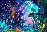 Rompecabezas colorido de la casa de la seta de los niños, rompecabezas de 1000 piezas, desarrollo intelectual adecuado de los niños
