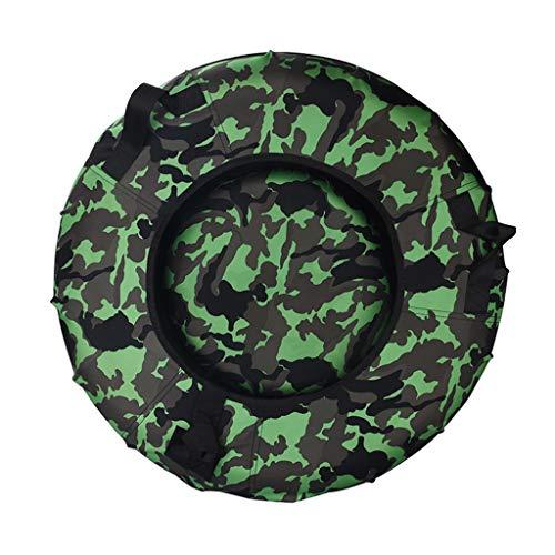 Rodel Schlitten Ski Schlitten Erwachsene Skiausrüstung Garten im Freien Kinder-Schleifring Qualität Oxford Gummiring (Color : Green, Size : 90 * 90 * 90cm)