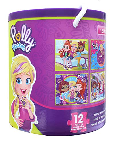 TCG Toys Polly Pocket Jigsaw Puzzle 12 Pack | 24, 48, & 100 Pieces