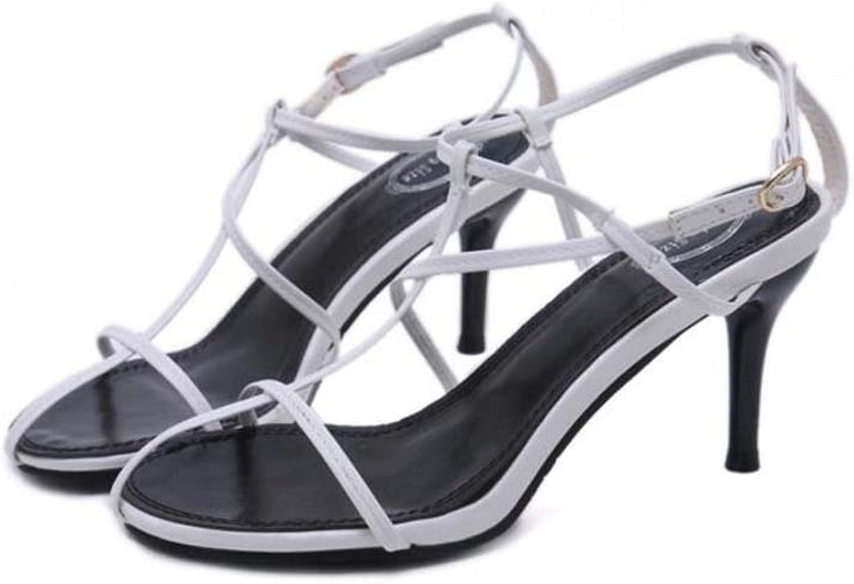 Women Pump 7.5cm Stiletto Peep Toe D'orsay Slingbacks Sandals Dress shoes Simple Solid Fine Cross Straps Belt Buckle OL Court shoes Casual Roma shoes Eu Size 34-40