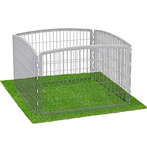 LOOBANI Dog Playpen Flooring Artificial Grass Mat, 72″ x 72″ / 48″ x 65″ / 41″ x 41″ Whelping Pads for Puppy Enclosure, Pen, Exercise, Cage, Crate, Kennel, Fence, House -(Not Included Playpen)