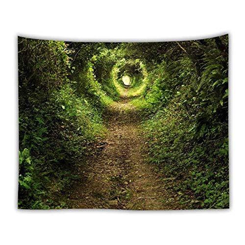 Paisaje natural bosque verde tapiz colgante de pared paisaje hogar arte decoración tapiz de pared paisaje tapiz alfombra fina A3 180x200cm
