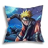 Naruto Funda De Almohada Funda De Almohada De Anime para El Sofá De La Habitación del Hogar Funda De Almohada Decorativa De Anime 45x45cm
