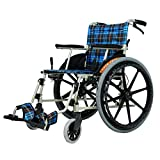 Shisyan Sillas de ruedas Old Man Power tranvía ligero de transporte plegable silla de ruedas de aleación de aluminio punción colisión Llevar silla de ruedas portátil de viaje for sillas Andadores Fgfh