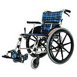 LKK-KK Sillas de ruedas Old Man Power tranvía ligero de transporte plegable silla de ruedas de aleación de aluminio punción colisión Llevar silla de ruedas portátil de viaje for sillas Andadores Fgfhg