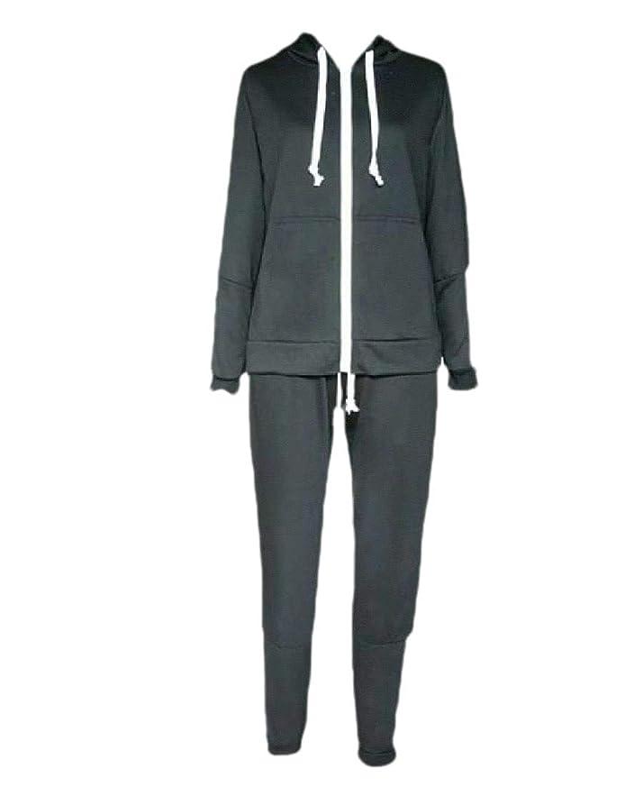 めまいがキノコスタックWomens Zipper Closure 2 Piece Lounge Hooded Workout Gym Fleece Sweatsuit
