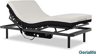 comprar comparacion Gerialife® Cama articulada con colchón ortopédico viscoelástico 20 cm. (90x190, Gris Grafito)