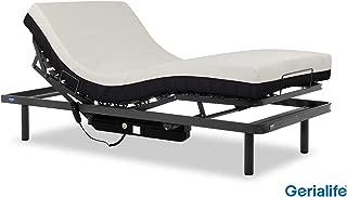 Gerialife® Pack Cama articulada con colchón viscoelástico 20 cm. (105x190, Gris Grafito)
