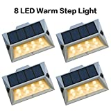 Best Step Lights - Roopure【Newest Version Warm 8 LED】Warm White Solar Deck Review
