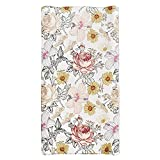 Baby Floral Diaper Changing Pad Cover Cradle Mattress Sheets, Infant Stretchy Fabric Changing Table Cover Changing Mat Cover Baby Nursery Diaper Changing Pad Sheets (Floral)
