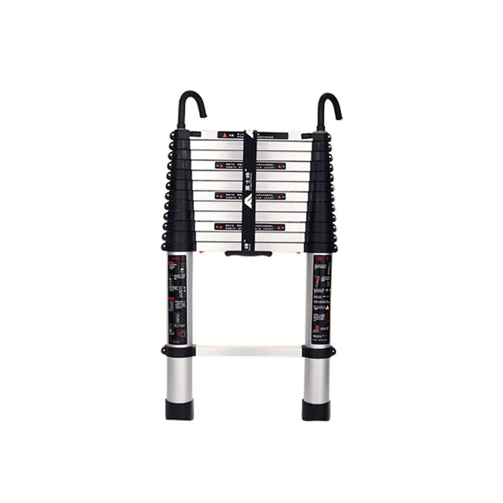 YTC Escalera Telescópica con Los Ganchos De Aluminio Extensible Multiuso Portátil Loft Escaleras Una Clave Contracción Fácil Funciona (Size : 2m/6.6ft): Amazon.es: Hogar