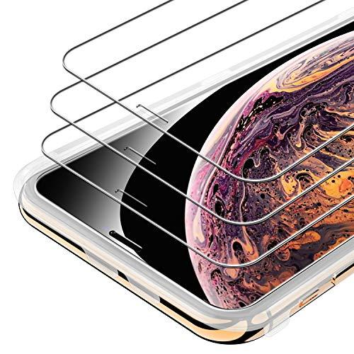 Syncwire Vetro Temperato iPhone XS Max - iPhone 11 Pro Max [3 pezzi] Pellicola Protettiva Vetrino Protezione Dello Schermo Protettore Ultra Trasparente per iPhone XS Max,11 Pro Max HD 3D Touch 9H