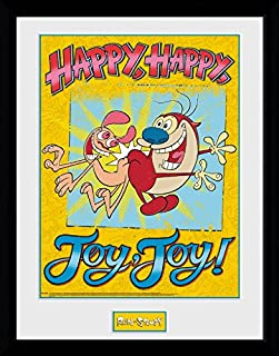 Ren and Stimpy Framed Collector Poster - Happy Joy (16 x 12 inches)