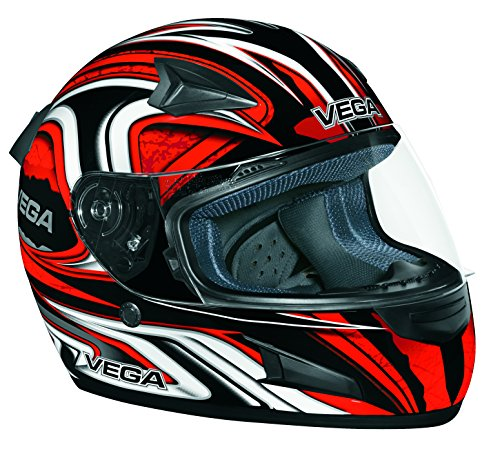 Vega 6345-031 X888 Full Face Helmet with Daisho Graphic (Red, X-Small)