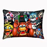 Five Nights at Freddy's Pillowcase Decorative Pillowslip Custom Cover Twin Sides 20x30 Inch